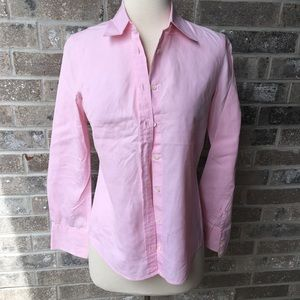 J.CREW Collared Dress Shirt Pink XS Button Down